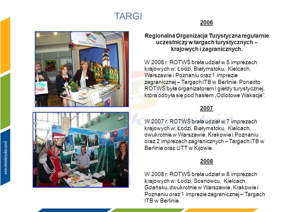TARGI 2006. Regionalna Organizacja Turystyczna regularnie uczestniczy w targach turystycznych – krajowych i zagranicznych.