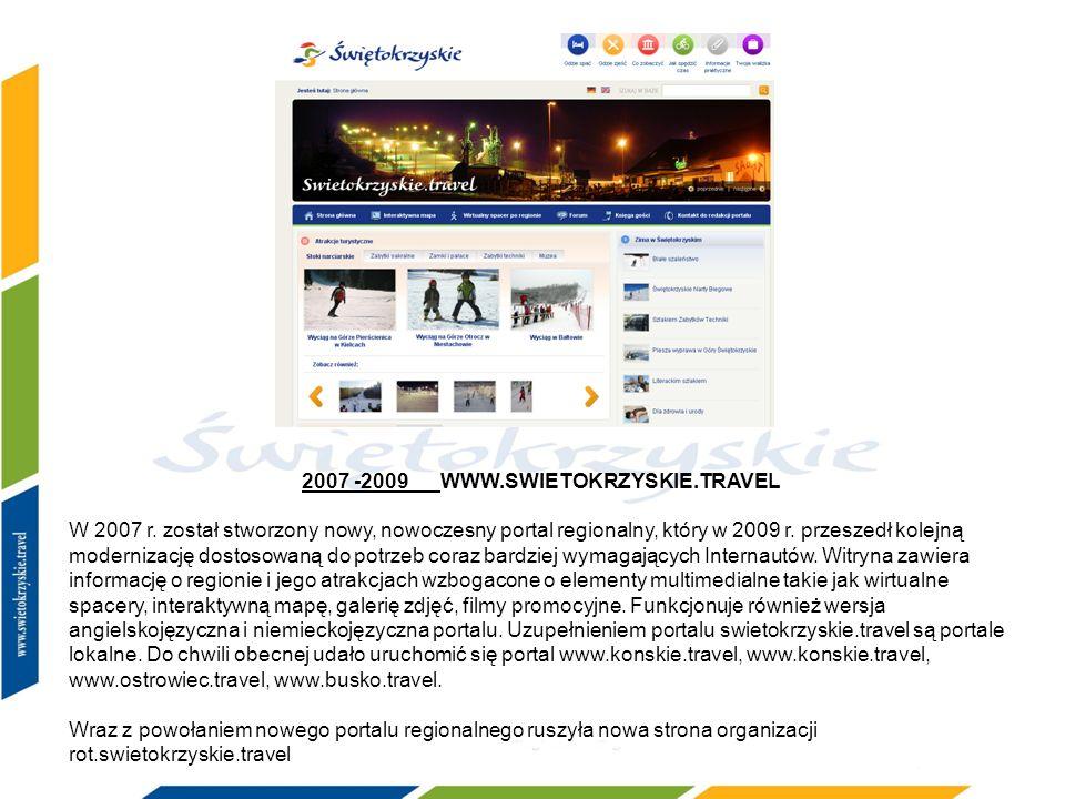 2007 -2009 WWW.SWIETOKRZYSKIE.TRAVEL