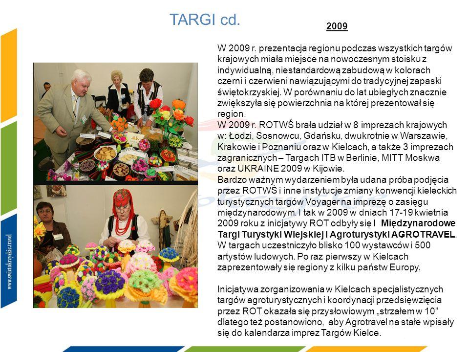 TARGI cd. 2009 W 2009 r. prezentacja regionu podczas wszystkich targów