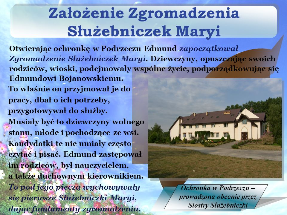 Założenie Zgromadzenia Służebniczek Maryi