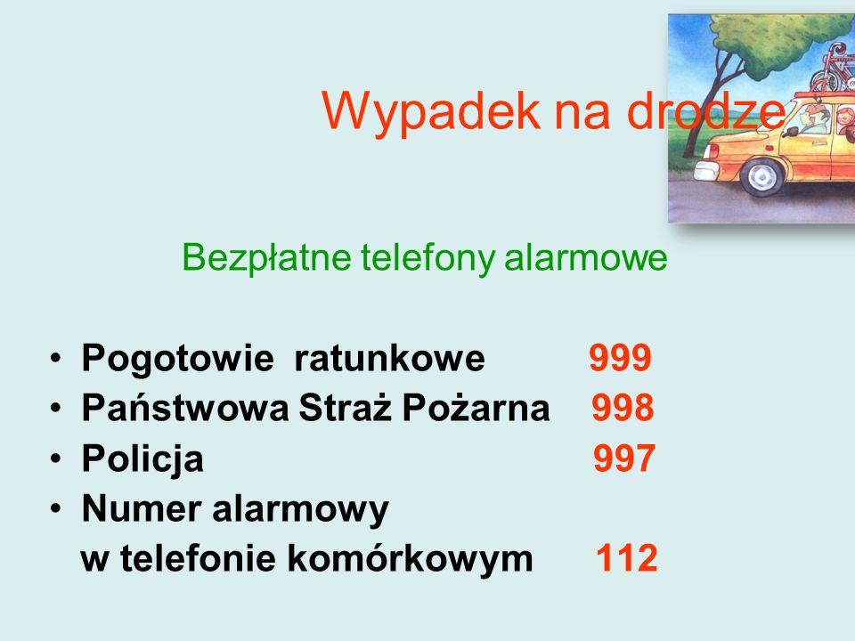 Bezpłatne telefony alarmowe