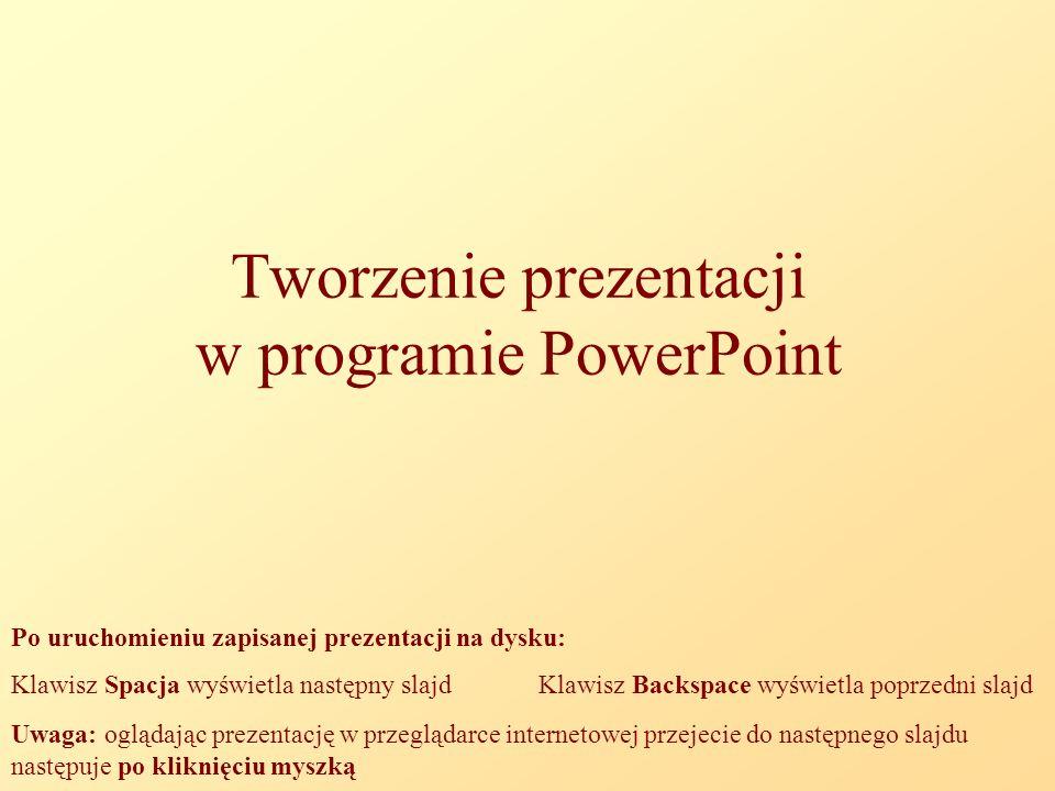 Tworzenie prezentacji w programie PowerPoint