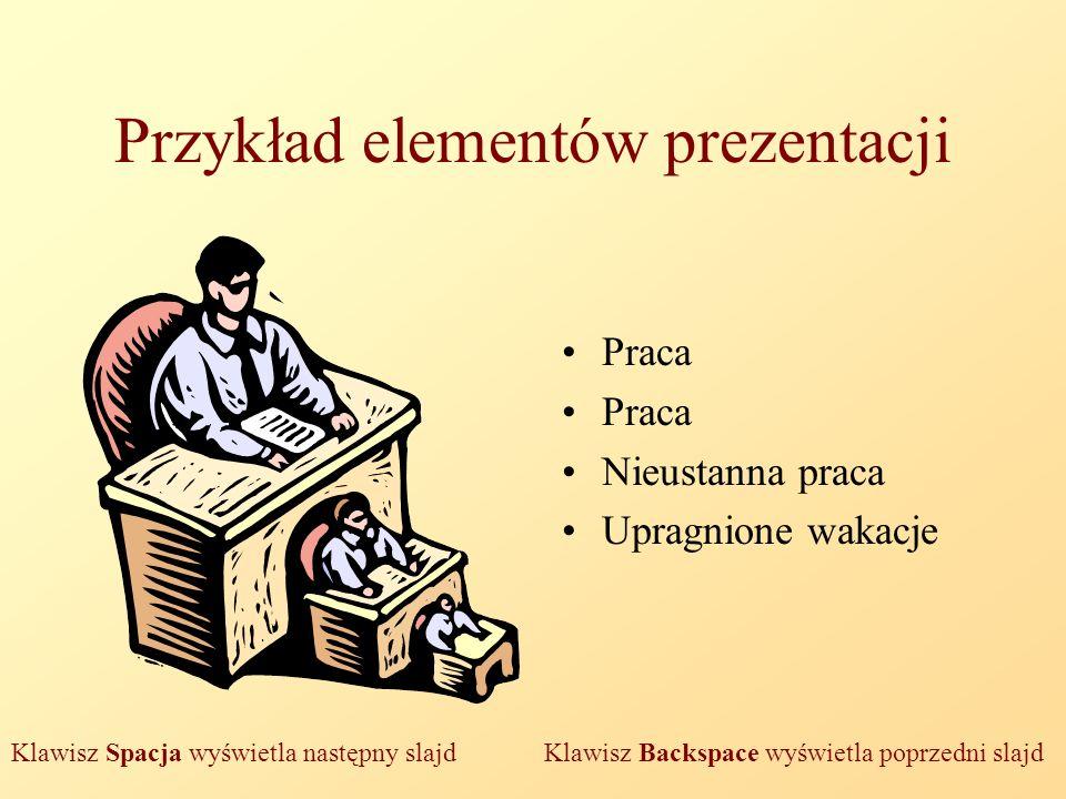 Przykład elementów prezentacji