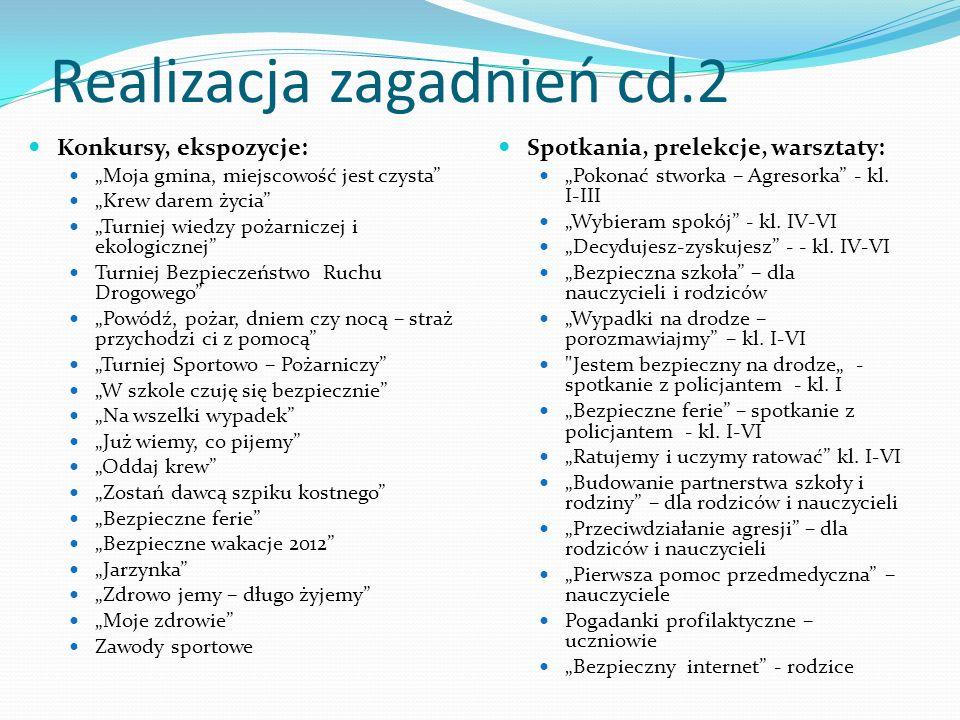 Realizacja zagadnień cd.2
