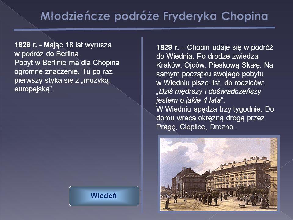 Młodzieńcze podróże Fryderyka Chopina