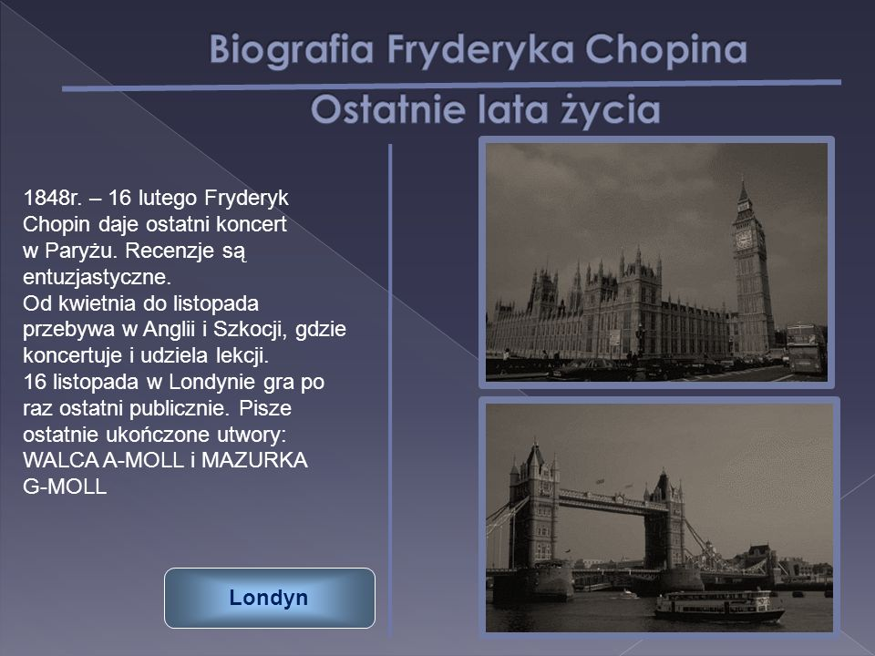 Biografia Fryderyka Chopina