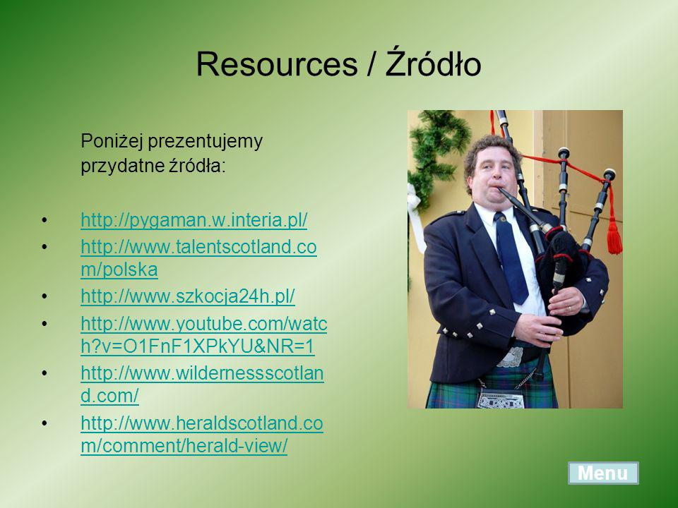 Resources / Źródło Poniżej prezentujemy przydatne źródła: