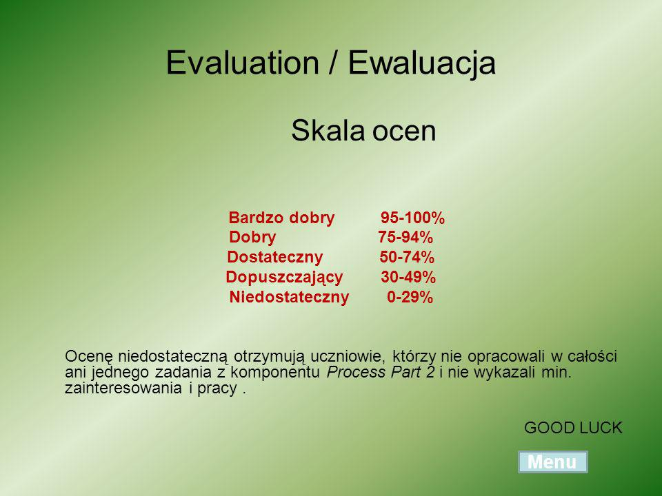 Evaluation / Ewaluacja