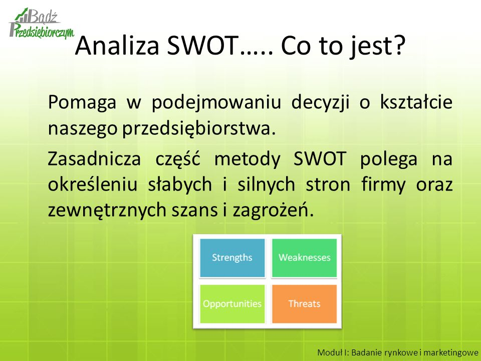 Analiza SWOT….. Co to jest