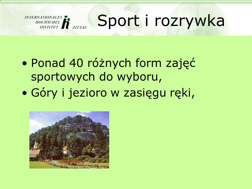 Sport i rozrywka Ponad 40 różnych form zajęć sportowych do wyboru,