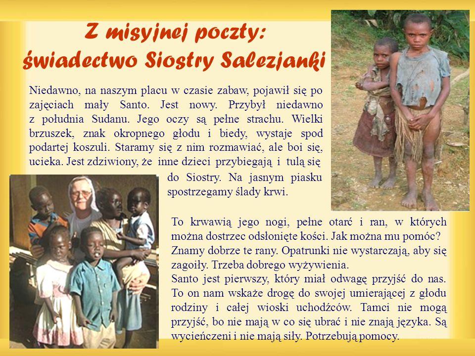 Z misyjnej poczty: swiadectwo Siostry Salezjanki
