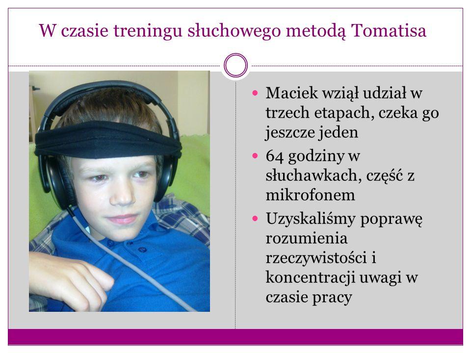 W czasie treningu słuchowego metodą Tomatisa