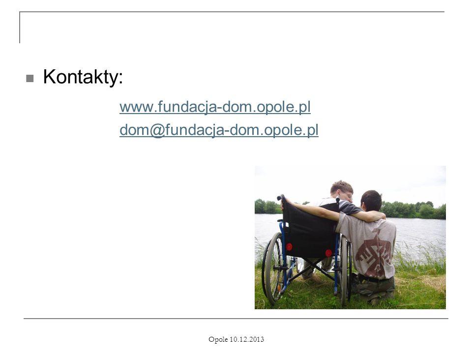 Kontakty: www.fundacja-dom.opole.pl dom@fundacja-dom.opole.pl
