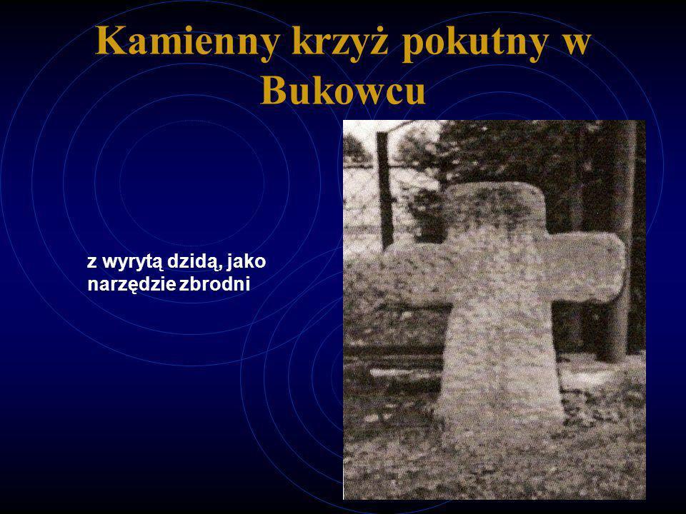 Kamienny krzyż pokutny w Bukowcu