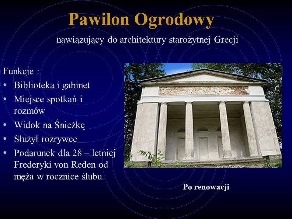 Pawilon Ogrodowy nawiązujący do architektury starożytnej Grecji