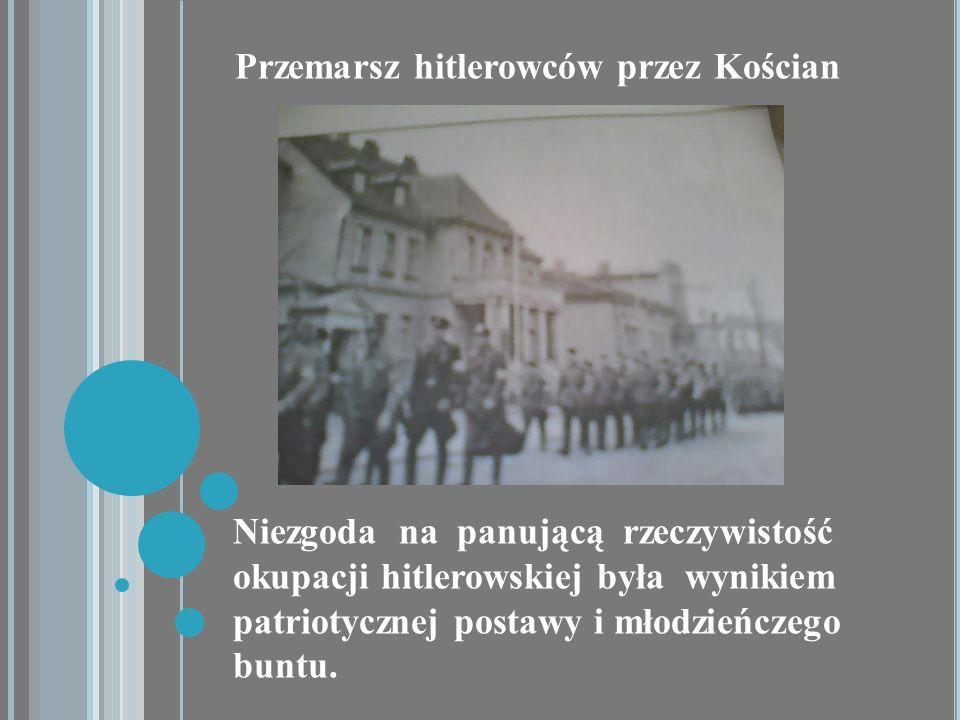 Przemarsz hitlerowców przez Kościan