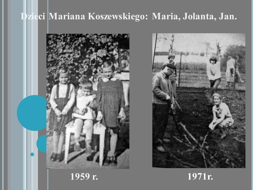 Dzieci Mariana Koszewskiego: Maria, Jolanta, Jan.