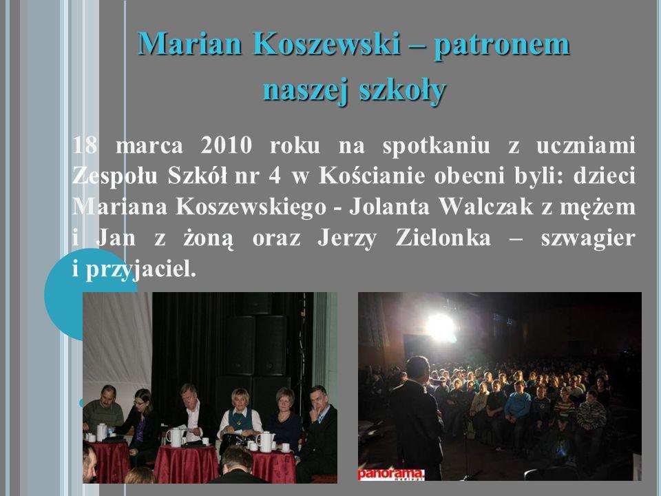 Marian Koszewski – patronem