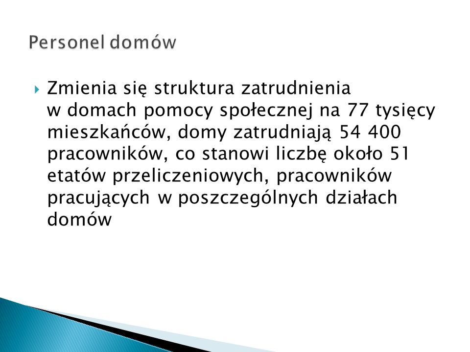 Personel domów