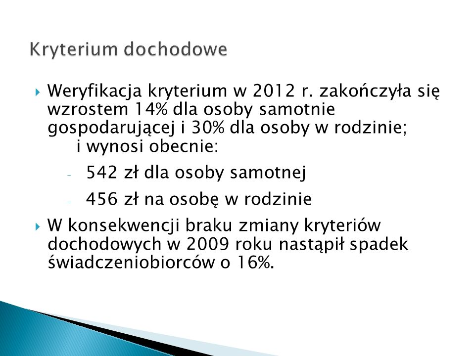 Kryterium dochodowe