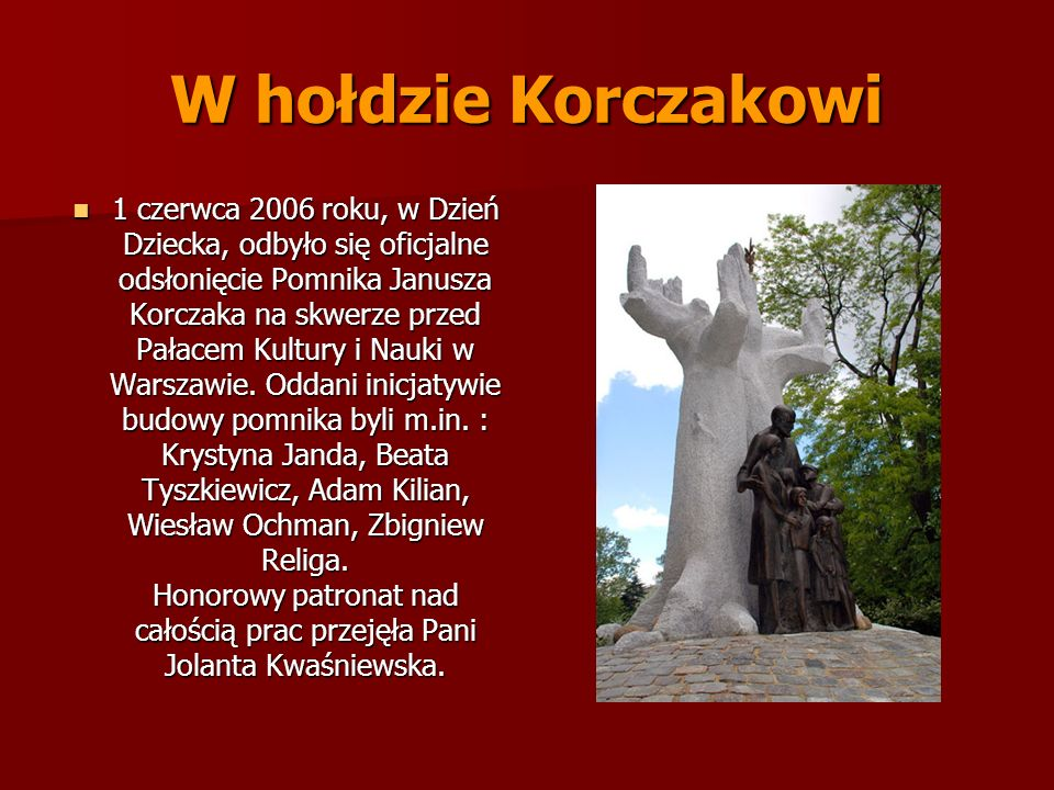 W hołdzie Korczakowi