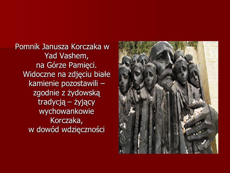 Pomnik Janusza Korczaka w Yad Vashem, na Górze Pamięci