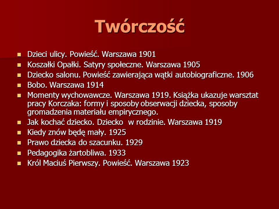 Twórczość Dzieci ulicy. Powieść. Warszawa 1901