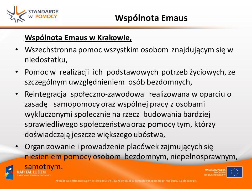 Wspólnota Emaus Wspólnota Emaus w Krakowie,