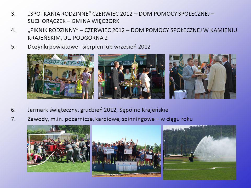 """""""SPOTKANIA RODZINNE CZERWIEC 2012 – DOM POMOCY SPOŁECZNEJ – SUCHORĄCZEK – GMINA WIĘCBORK"""