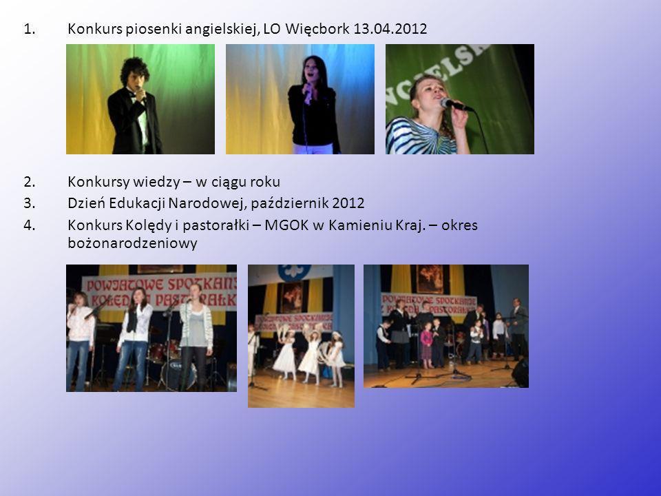 Konkurs piosenki angielskiej, LO Więcbork 13.04.2012