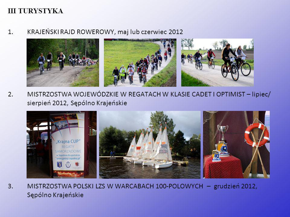 III TURYSTYKA KRAJEŃSKI RAJD ROWEROWY, maj lub czerwiec 2012.