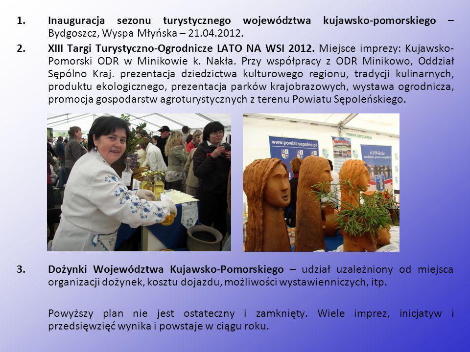 Inauguracja sezonu turystycznego województwa kujawsko-pomorskiego – Bydgoszcz, Wyspa Młyńska – 21.04.2012.