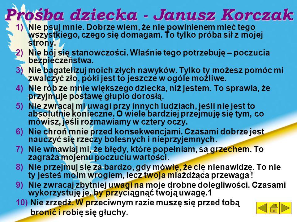 Prośba dziecka - Janusz Korczak