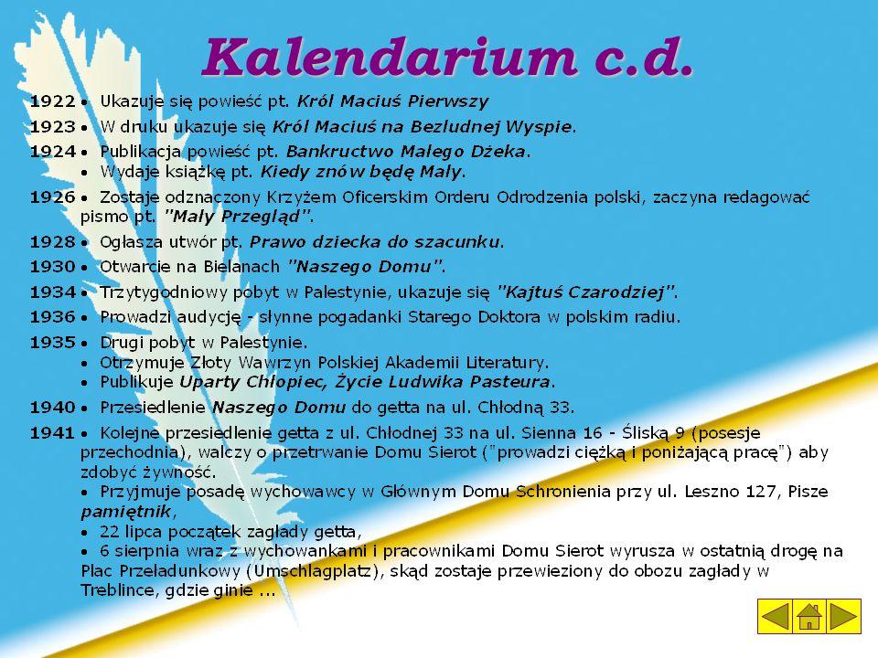 Kalendarium c.d.