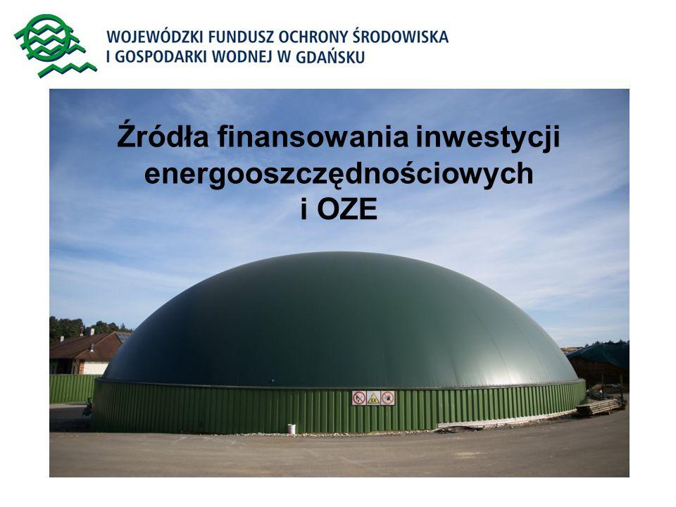 Źródła finansowania inwestycji energooszczędnościowych i OZE