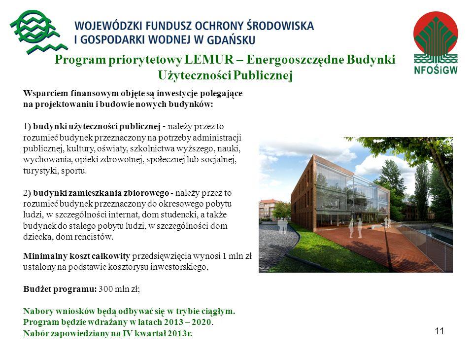 Program priorytetowy LEMUR – Energooszczędne Budynki Użyteczności Publicznej