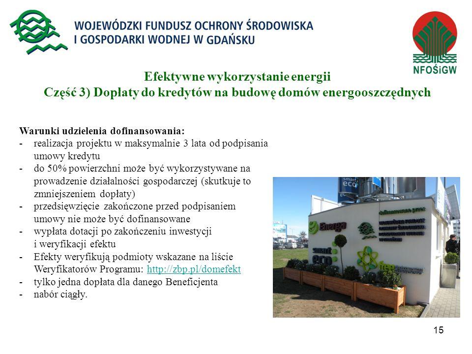 Efektywne wykorzystanie energii Część 3) Dopłaty do kredytów na budowę domów energooszczędnych