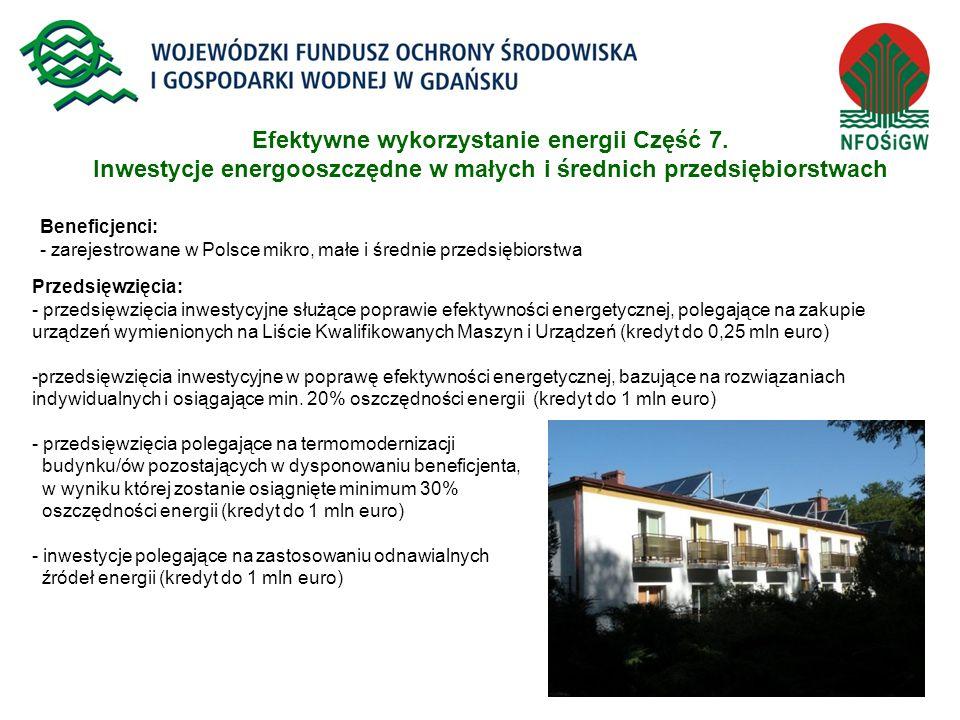 Efektywne wykorzystanie energii Część 7