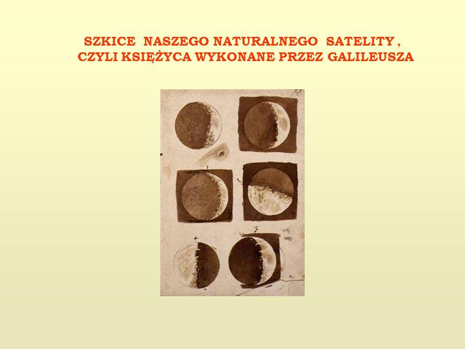 SZKICE NASZEGO NATURALNEGO SATELITY , CZYLI KSIĘŻYCA WYKONANE PRZEZ GALILEUSZA