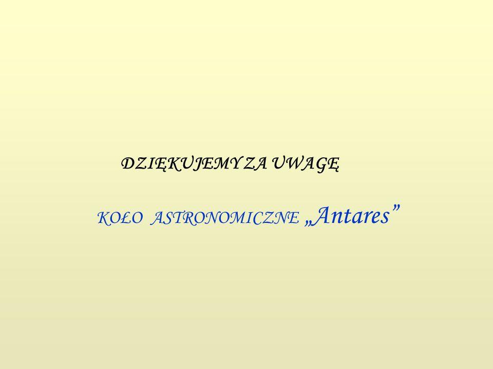 """KOŁO ASTRONOMICZNE """"Antares"""