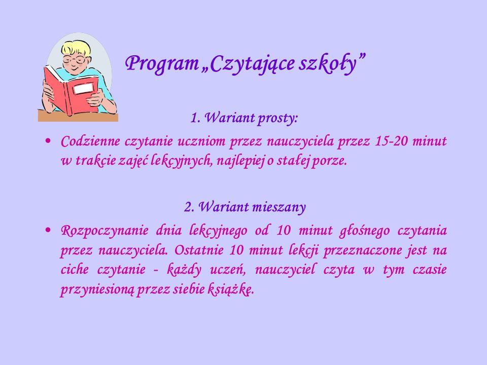 """Program """"Czytające szkoły"""