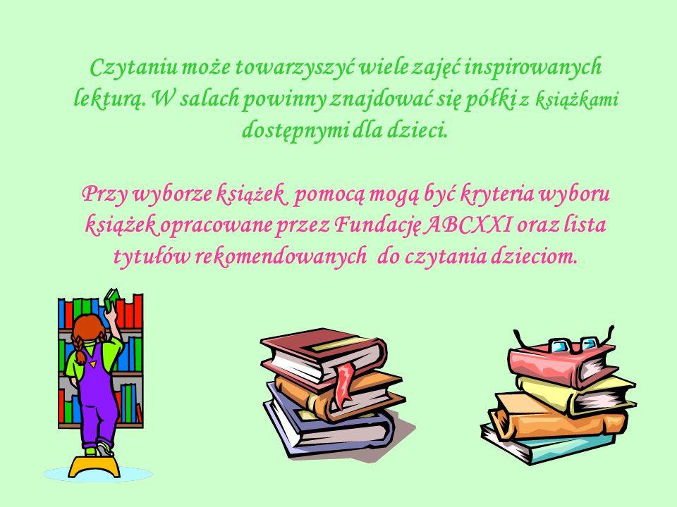 Czytaniu może towarzyszyć wiele zajęć inspirowanych lekturą