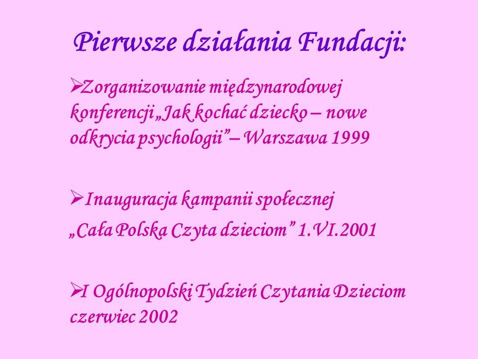 Pierwsze działania Fundacji: