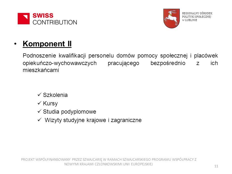 REGIONALNY OŚRODEKPOLITYKI SPOŁECZNEJ. w LUBLINIE. Komponent II.