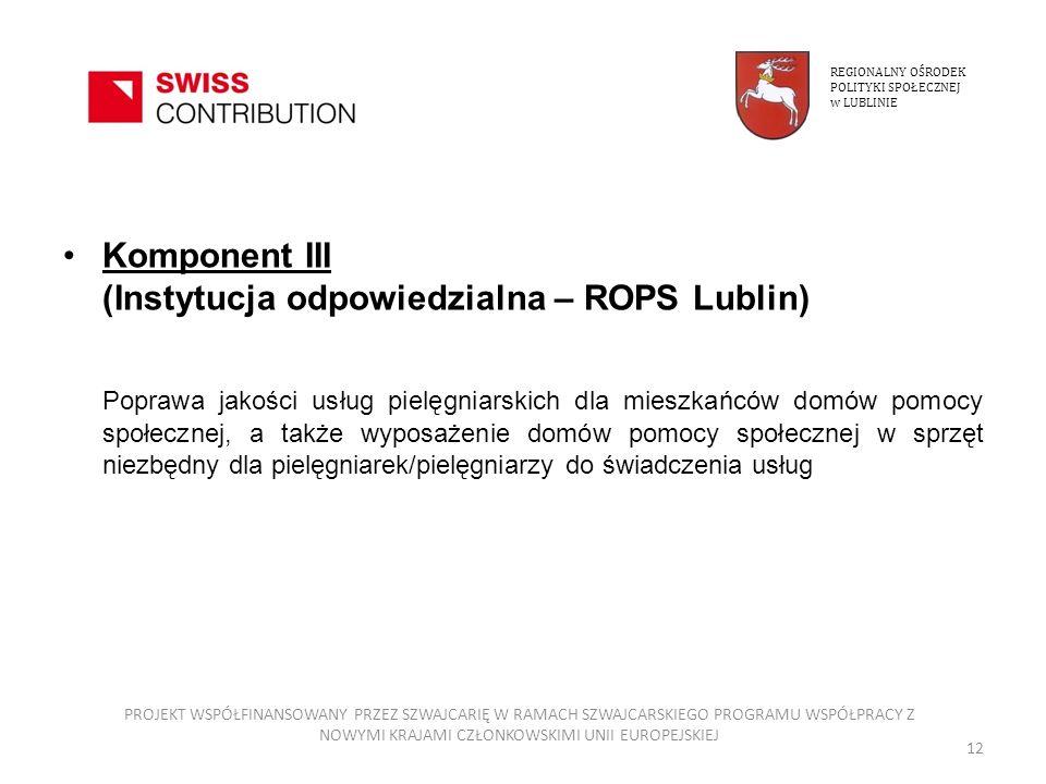 Komponent III (Instytucja odpowiedzialna – ROPS Lublin)