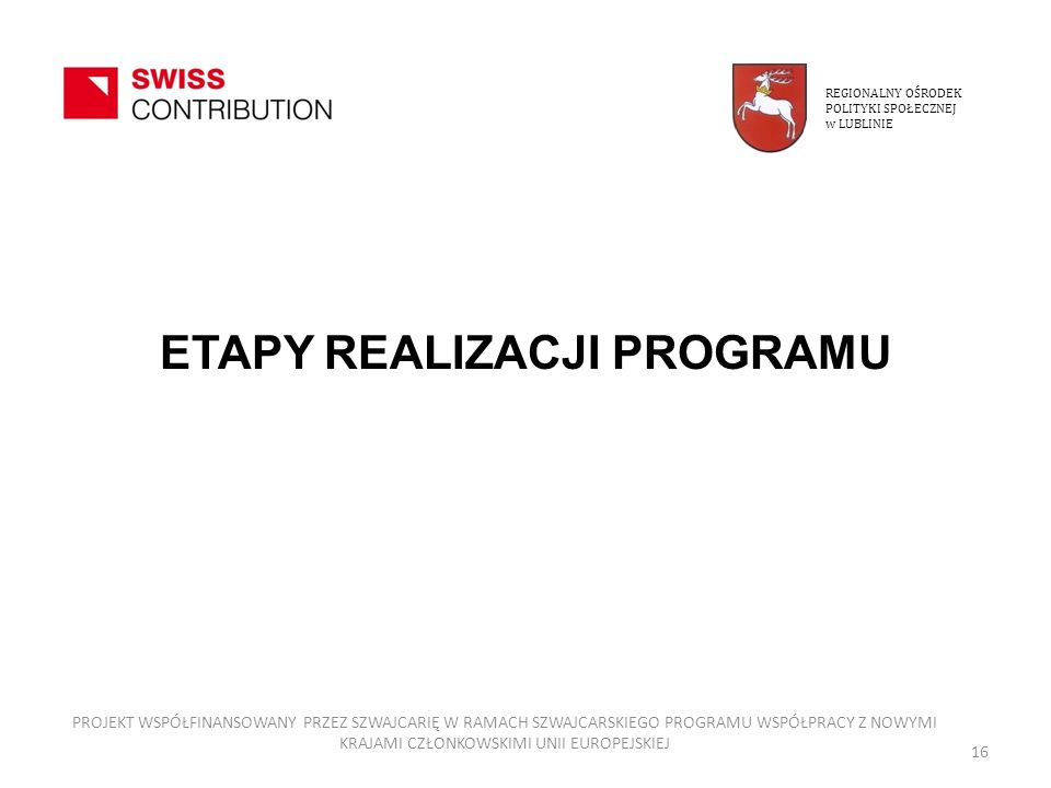 ETAPY REALIZACJI PROGRAMU