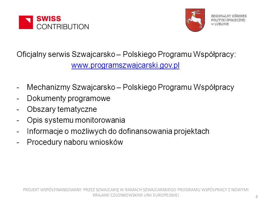 Oficjalny serwis Szwajcarsko – Polskiego Programu Współpracy:
