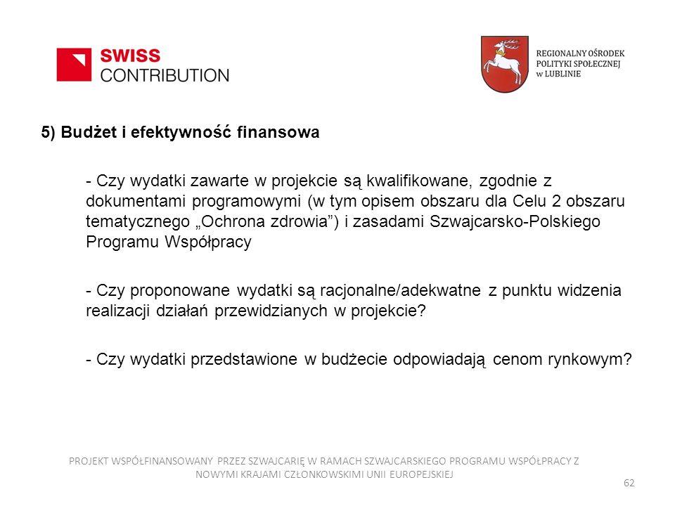 5) Budżet i efektywność finansowa