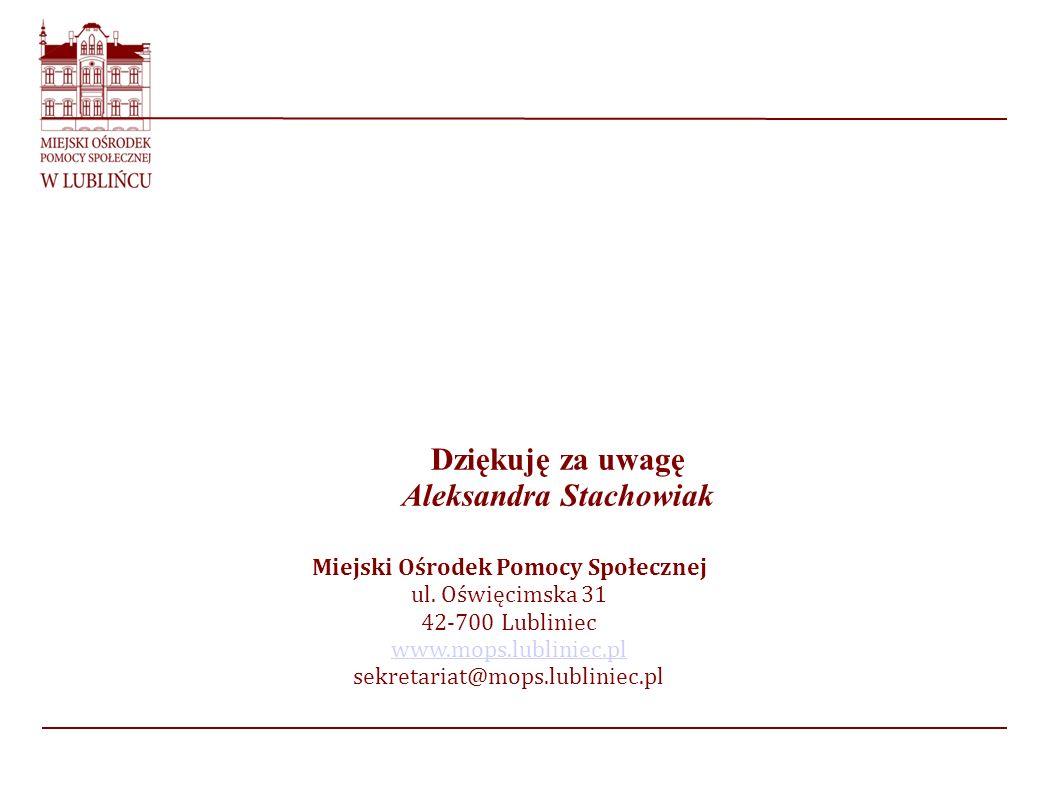 Aleksandra Stachowiak Miejski Ośrodek Pomocy Społecznej