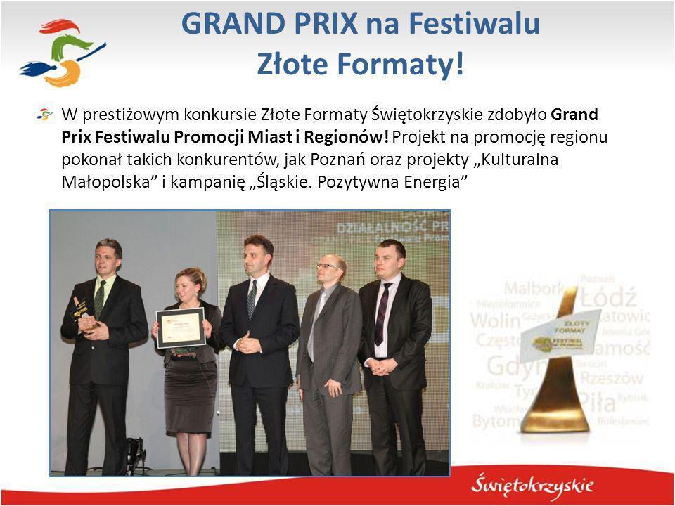 GRAND PRIX na Festiwalu Złote Formaty!